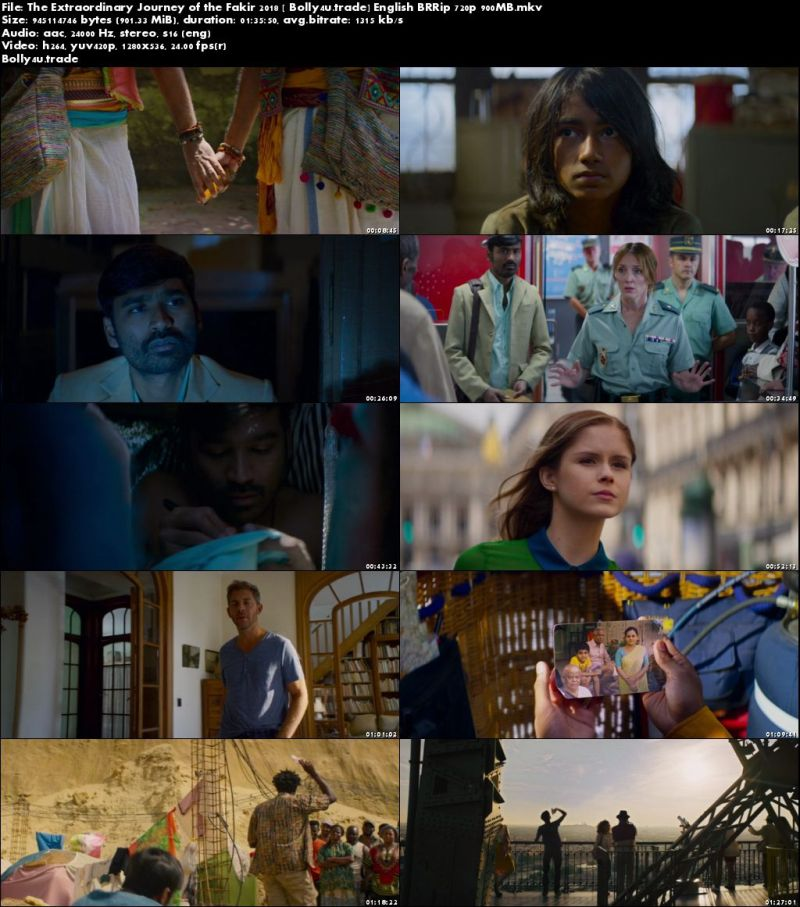 The Extraordinary Journey of the Fakir 2018 BRRip 900MB English 720p Download