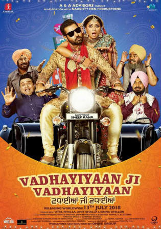 Vadhayiyaan Ji Vadhayiyaan 2018 WEB-DL 350Mb Punjabi 480p Watch Online Full Movie Download bolly4u
