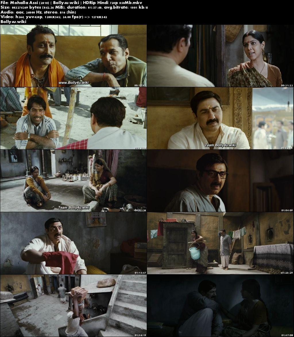 Mohalla Assi 2018 HDRip 350Mb Full Hindi Movie Download 480p