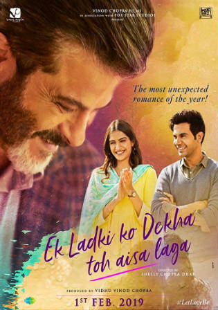 Ek Ladki Ko Dekha Toh Aisa Laga 2019 Pre DVDRip 800MB Hindi 720p Watch Online Full Movie Download bolly4u