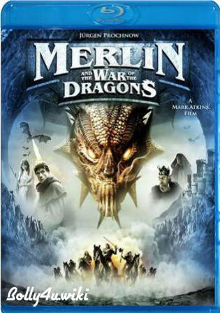 Merlin And The War Of The Dragons 2008 BRRip 300MB Hindi Dual Audio 480p Watch Online Full Movie Download bolly4u