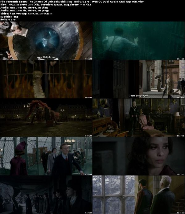 Fantastic Beasts The Crimes Of Grindelwald 2018 WEB-DL 1GB Hindi Dual Audio ORG 720p Download