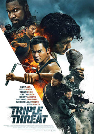 Triple Threat 2019 WEB-DL 800MB English 720p Watch Online Full Movie Download bolly4u