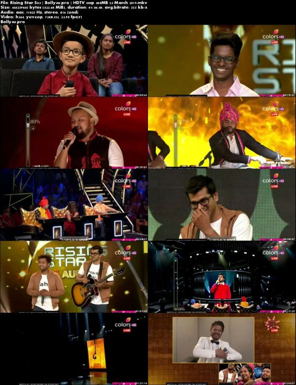 Rising Star S03 HDTV 480p 400MB 23 March 2019 Download