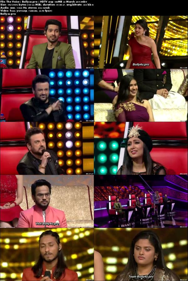 The Voice HDTV 480p 180MB 24 March 2019 Download