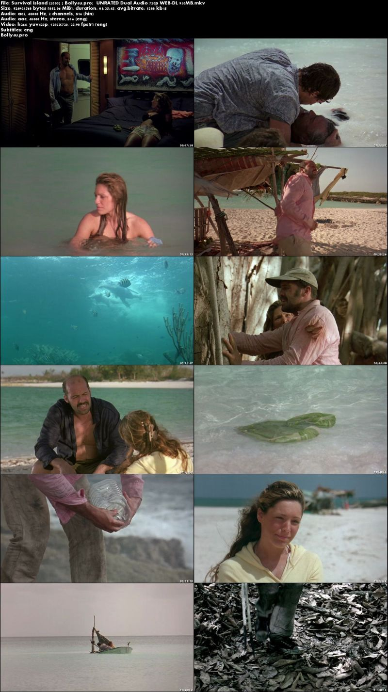 Survival Island 2005 WEB-DL 300MB UNRATED Hindi Dual Audio 480p Download