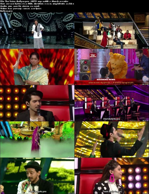 The Voice HDTV 480p 200MB 31 March 2019 Download