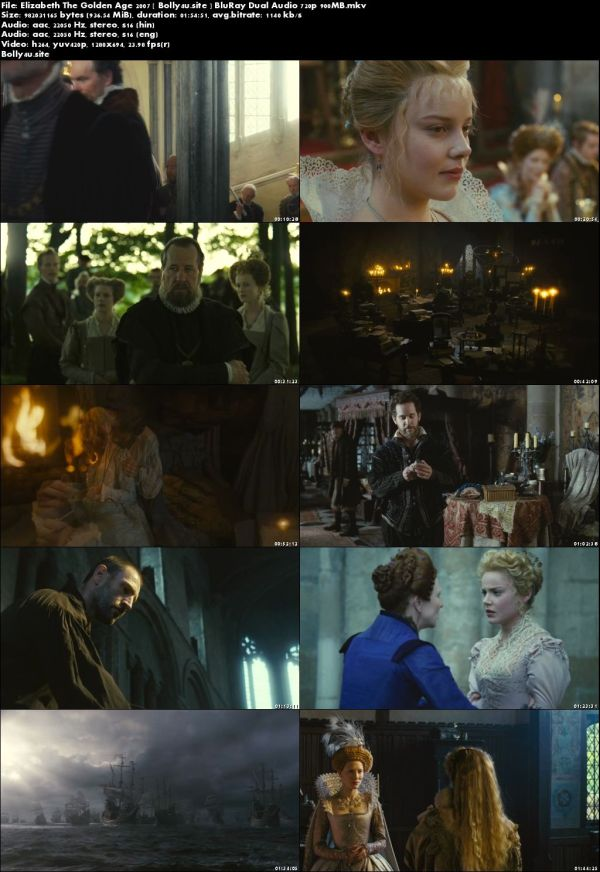 Elizabeth The Golden Age 2007 BluRay 900MB Hindi Dual Audio 720p Download