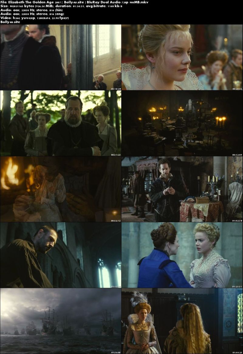 Elizabeth The Golden Age 2007 BluRay 350MB Hindi Dual Audio 480p Download