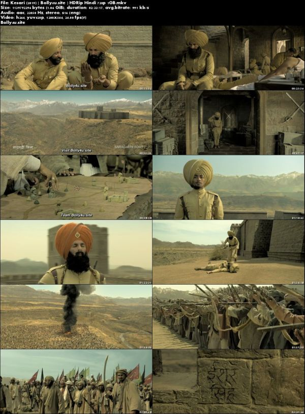 Kesari 2019 HDRip 1GB Full Hindi Movie Download 720p