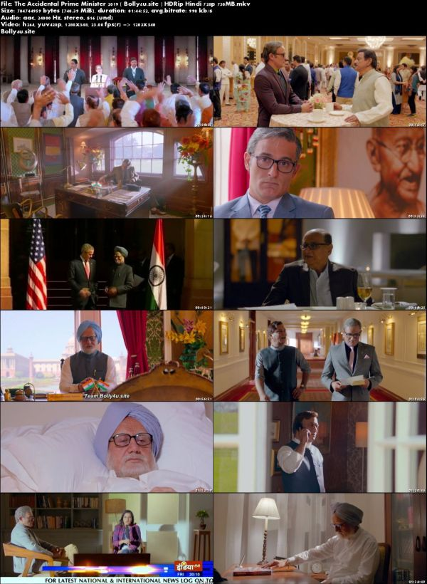 The Accidental Prime Minister 2019 HDRip 750MB Hindi 720p Download