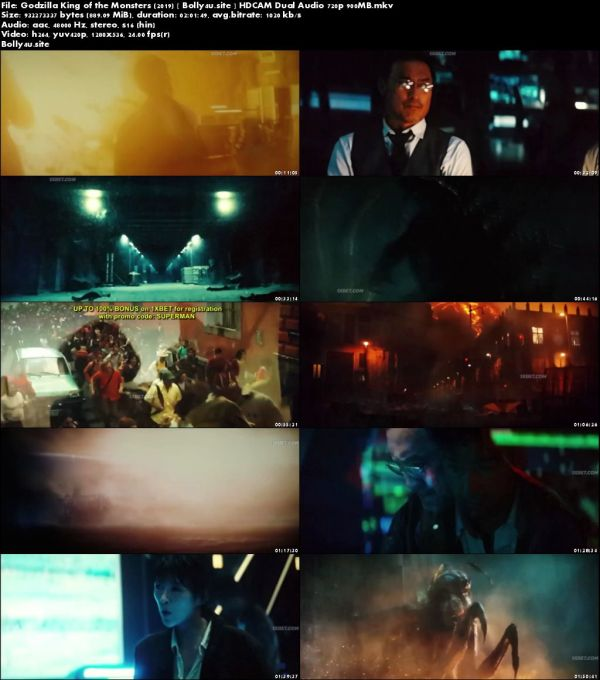 Godzilla King of the Monsters 2019 HDCAM 900MB Hindi Dual Audio 720p Download