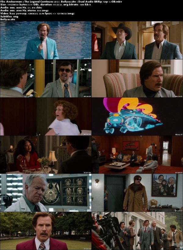 Anchorman 2 The Legend Continues 2013 BRRip 1.1GB Hindi Dual Audio 720p Download