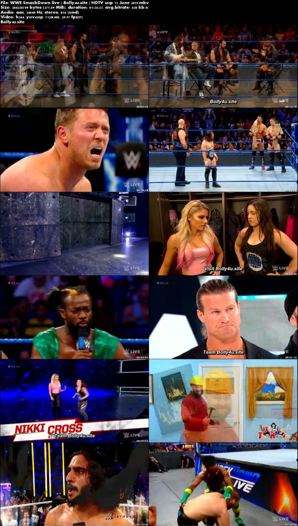 WWE Smackdown Live HDTV 280Mb 480p 11 June 2019 download
