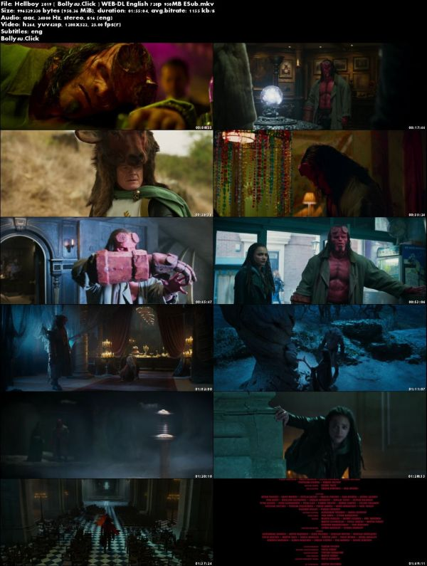 Hellboy 2019 WEB-DL 950MB English 720p ESub Download