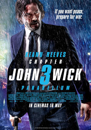 John Wick Chapter 3 Parabellum 2019 HDRip 900MB English 720p Watch Online Full Movie Download bolly4u