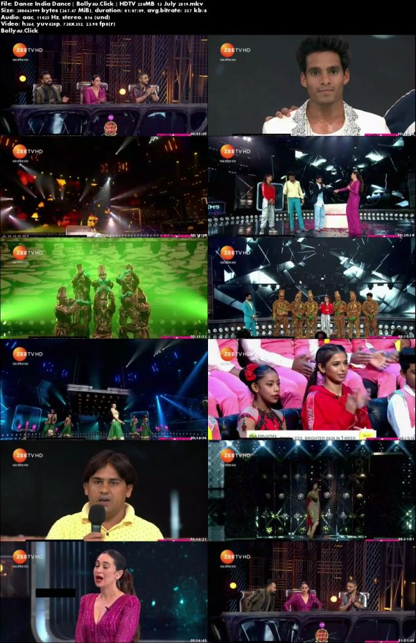 Dance India Dance HDTV 480p 250MB 13 July 2019 Download