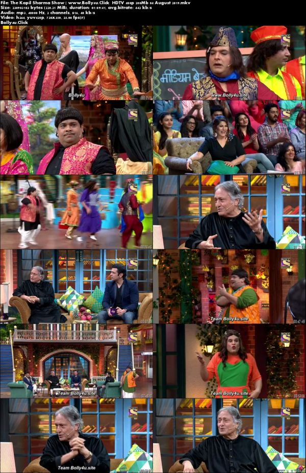 The Kapil Sharma Show HDTV 480p 200Mb 04 August 2019 Download