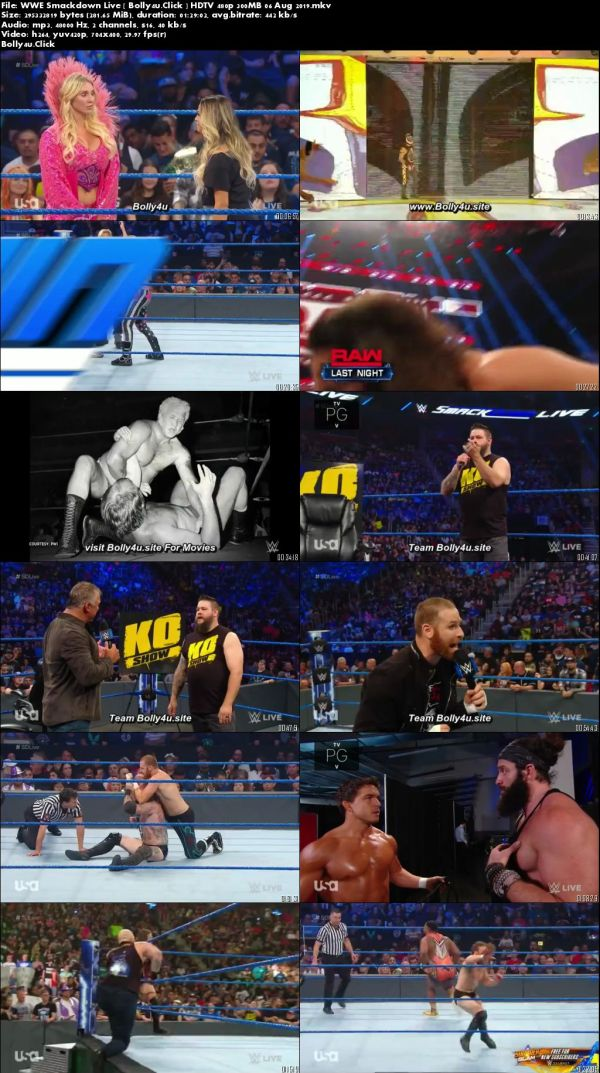 WWE Smackdown Live HDTV 480p 300MB 06 Aug 2019 Download