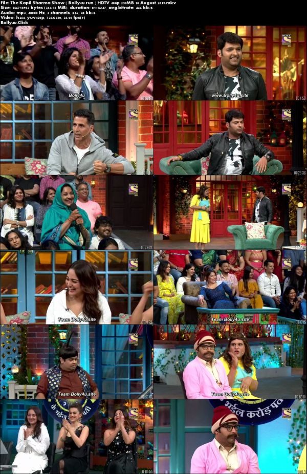 The Kapil Sharma Show HDTV 480p 250MB 10 August 2019 Download