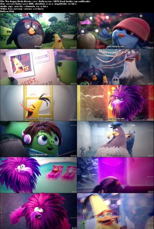 The Angry Birds Movie 2 2019 HDTS 600Mb Hindi Dual Audio 720p Download