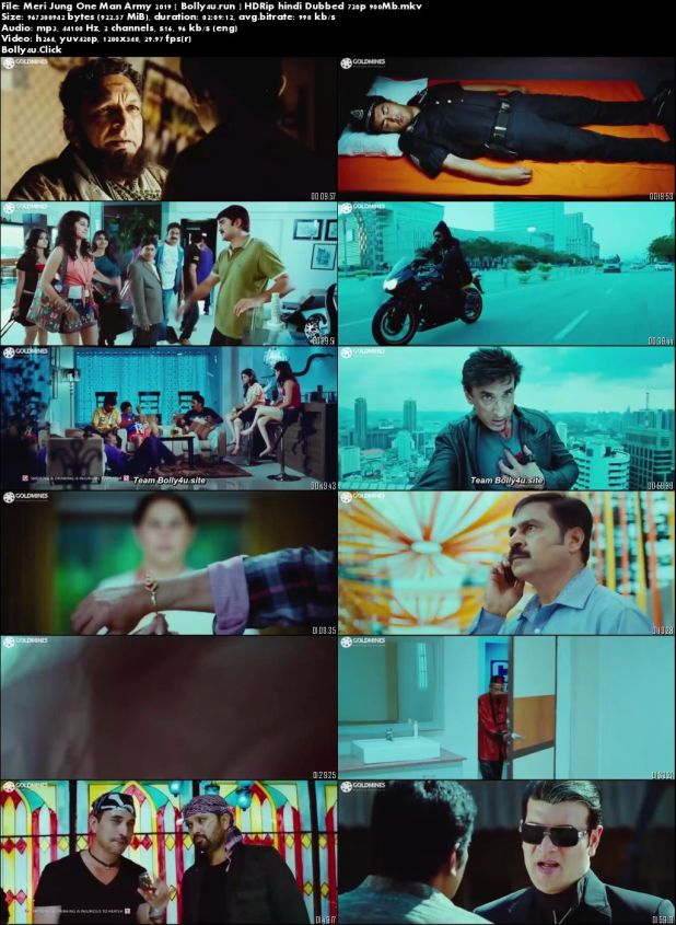 Meri Jung One Man Army 2019 HDRip 300Mb Hindi Dubbed 480p Download