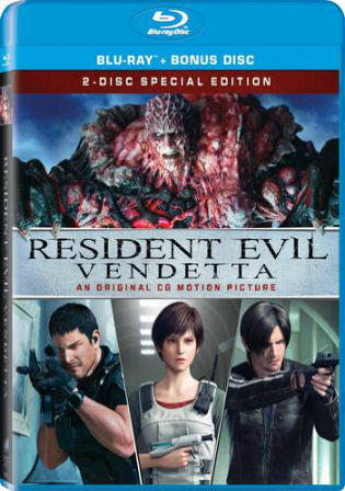 Resident Evil Vendetta 2017 BRRip 300MB Hindi Dual Audio ORG 480p Watch Online Full Movie Download bolly4u