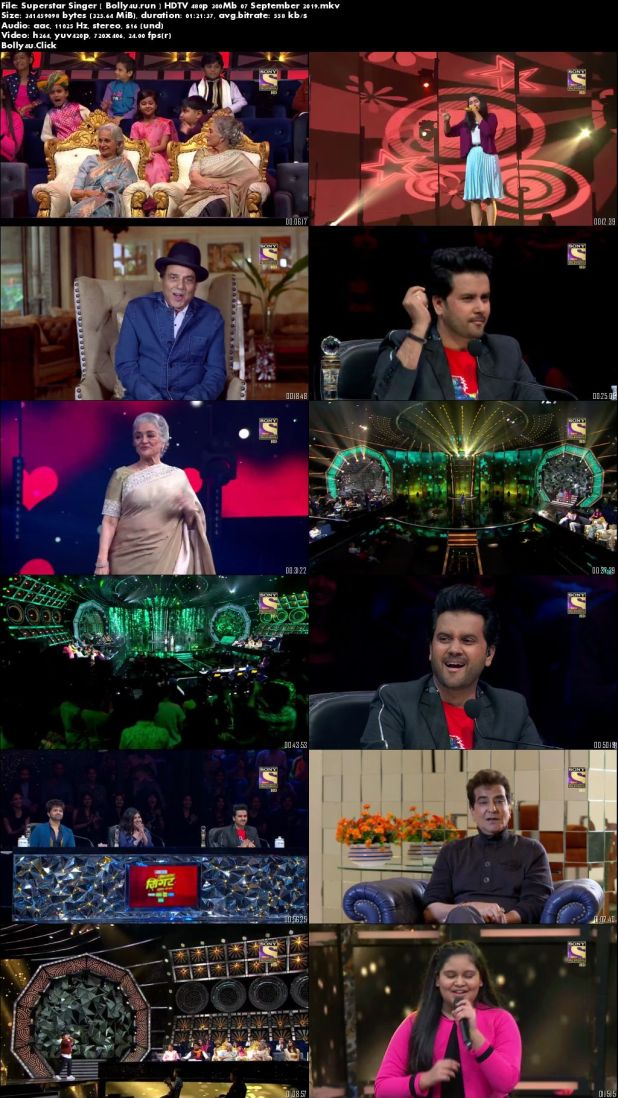 Superstar Singer HDTV 480p 300Mb 07 September 2019 Download