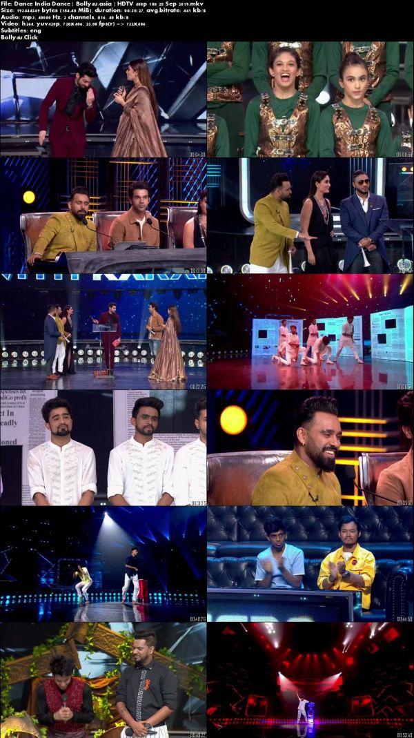 Dance India Dance HDTV 480p 180MB 28 September 2019 Download