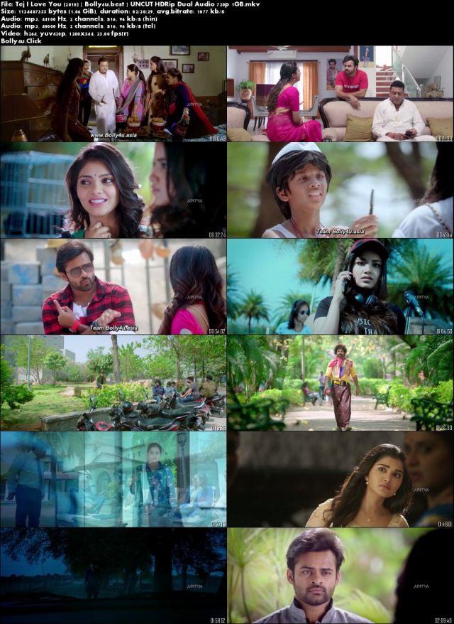 Tej I Love You 2018 HDRip 450MB UNCUT Hindi Dual Audio 480p Download