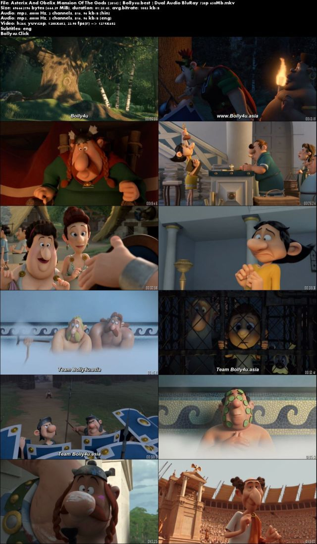 Asterix And Obelix Mansion Of The Gods 2014 BRRip 300Mb Hindi Dual Audio 480p Download