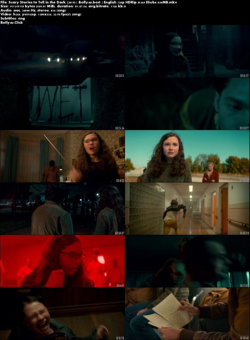 Scary Stories to Tell in the Dark 2019 HDRip 850MB English 720p ESubs Download