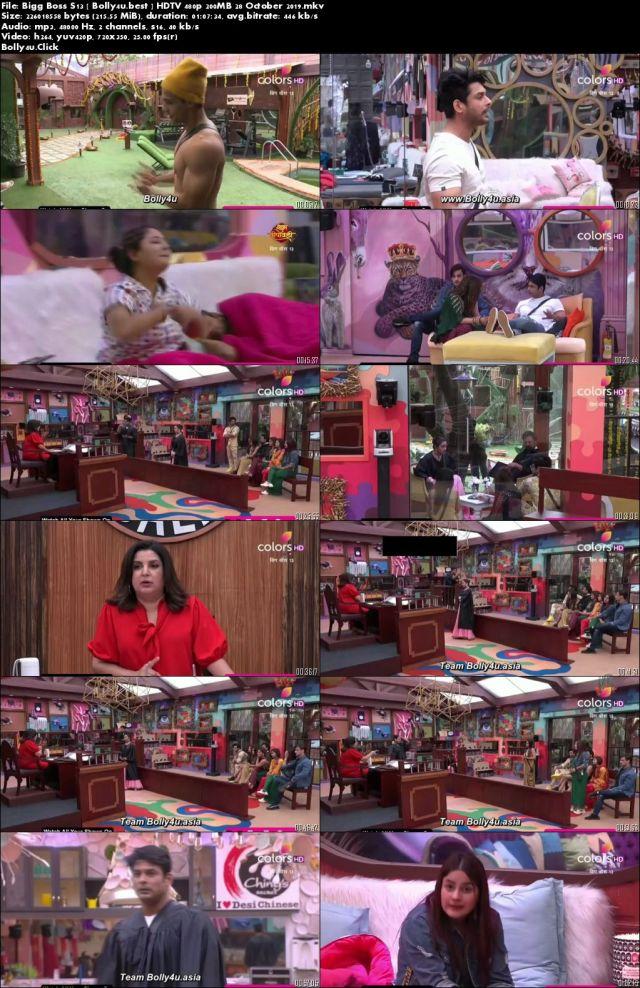 Bigg Boss S13 HDTV 480p 200MB 28 October 2019 Download