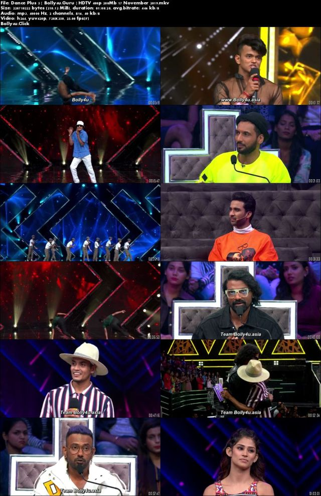 Dance Plus 5 HDTV 480p 200Mb 17 November 2019 Download