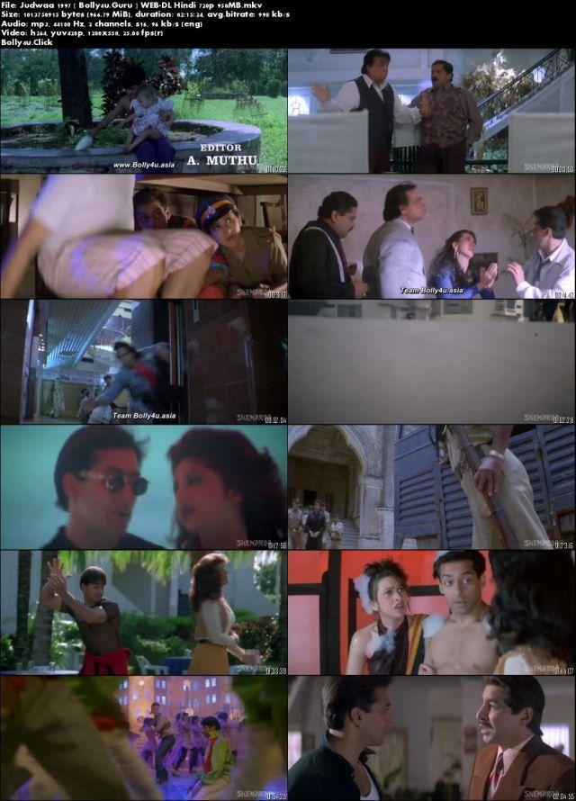 Judwaa 1997 WEB-DL 400MB Hindi 480p Download