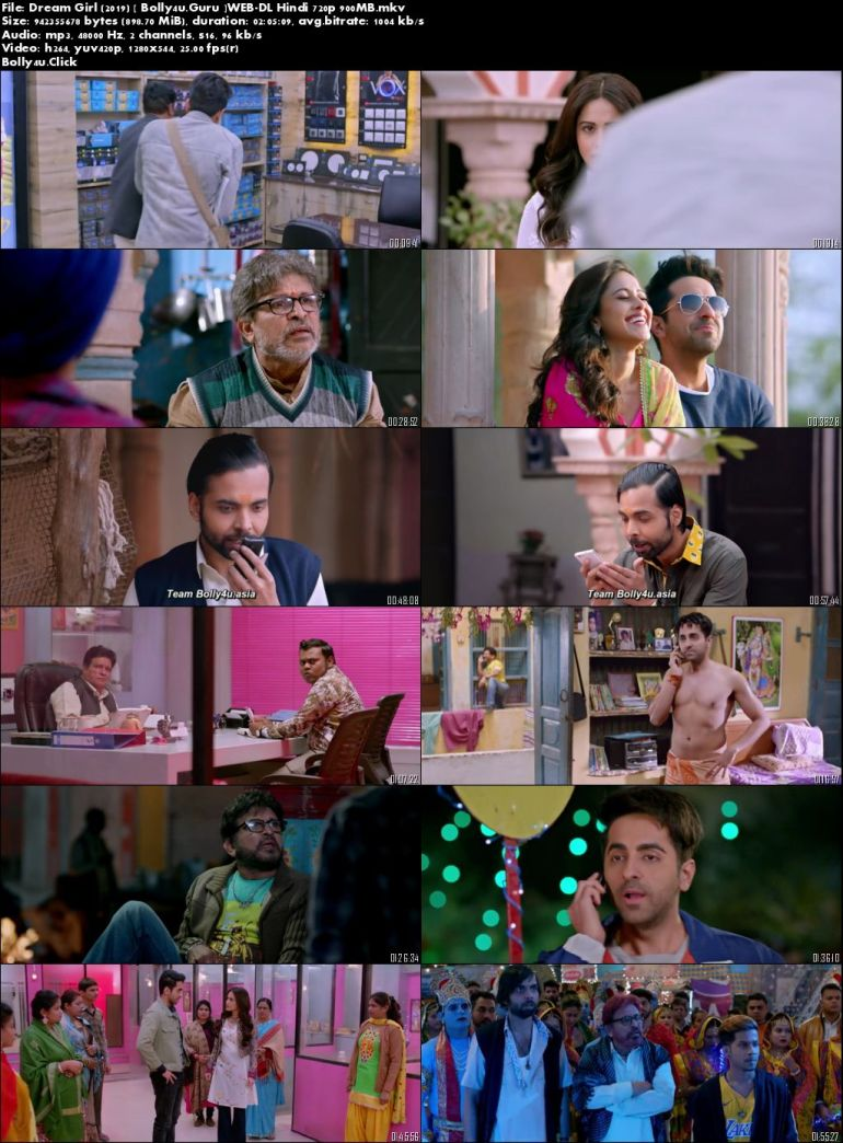 Dream Girl 2019 WEB-DL 900Mb Full Hindi Movie Download 720p