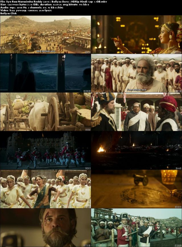 Sye Raa Narasimha Reddy 2019 HDRip 1.1GB Hindi 720p Download
