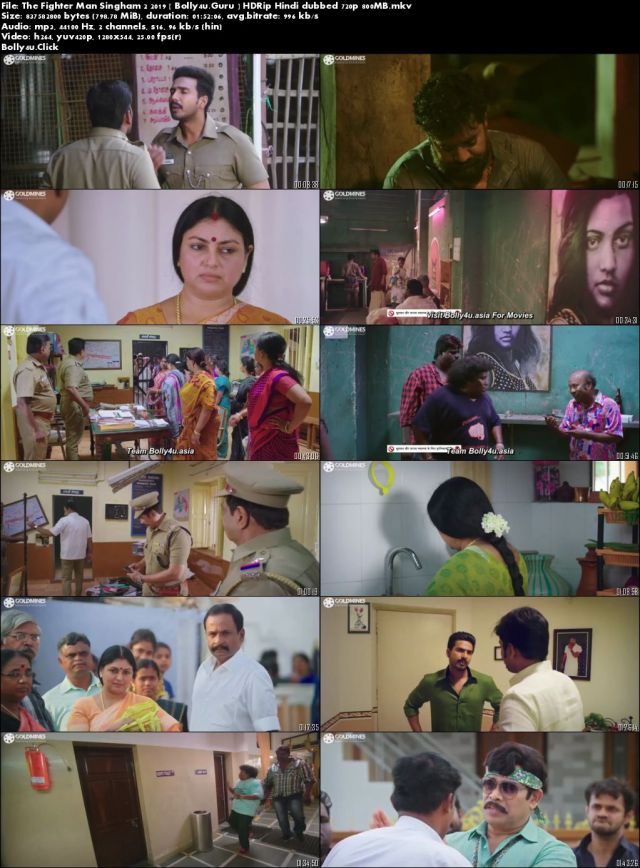 The Fighter Man Singham 2 2019 HDRip 800MB Hindi Dubbed 720p Download