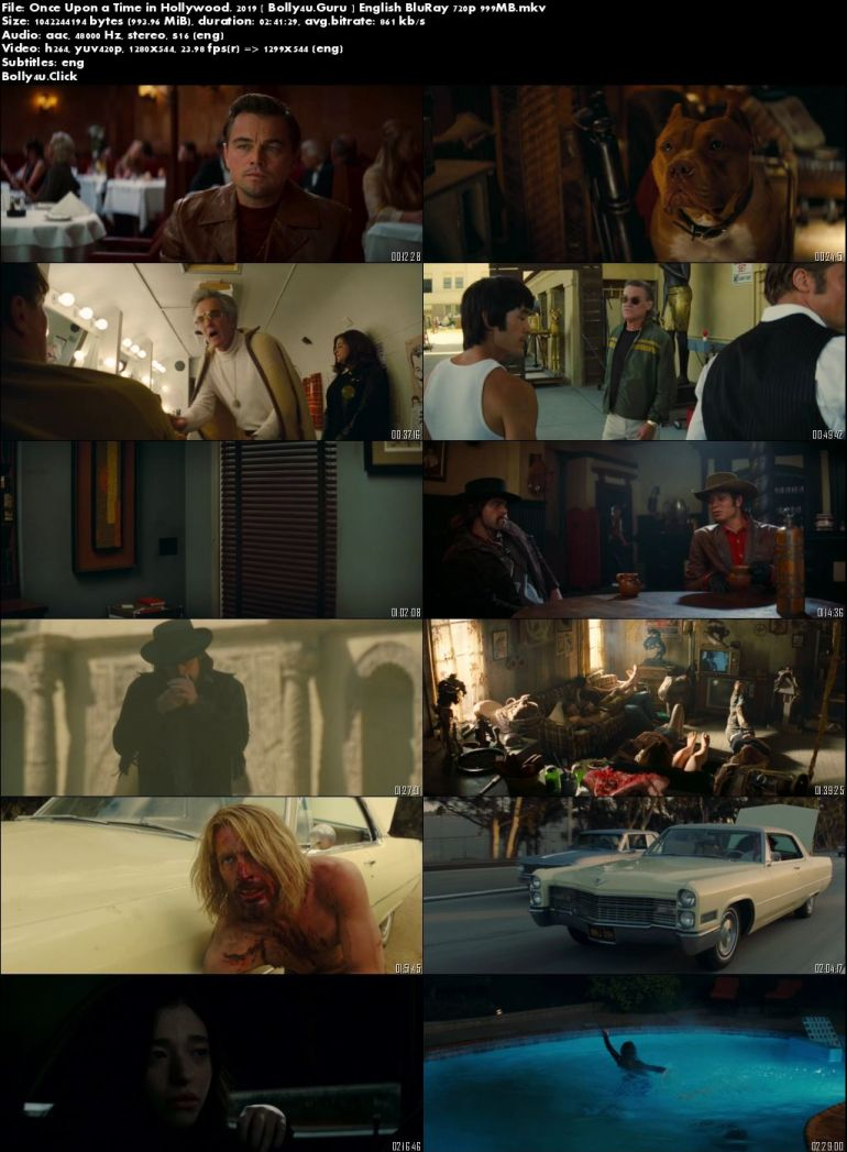 Once Upon a Time in Hollywood 2019 BRRip 450Mb English 480p ESub Download