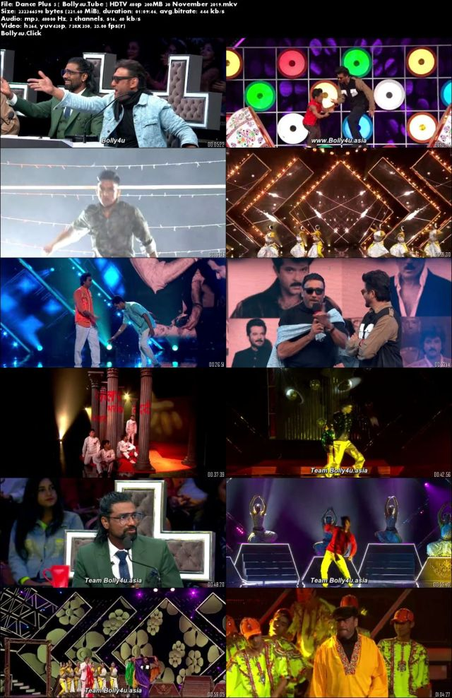 Dance Plus 5 HDTV 480p 200MB 30 November 2019 Download