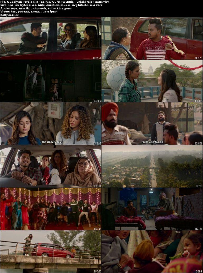 Guddiyan Patole 2019 WEBRip 300Mb Punjabi 480p Download