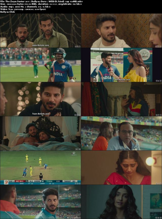 The Zoya Factor 2019 WEB-DL 950Mb Full Hindi Movie Download 720p
