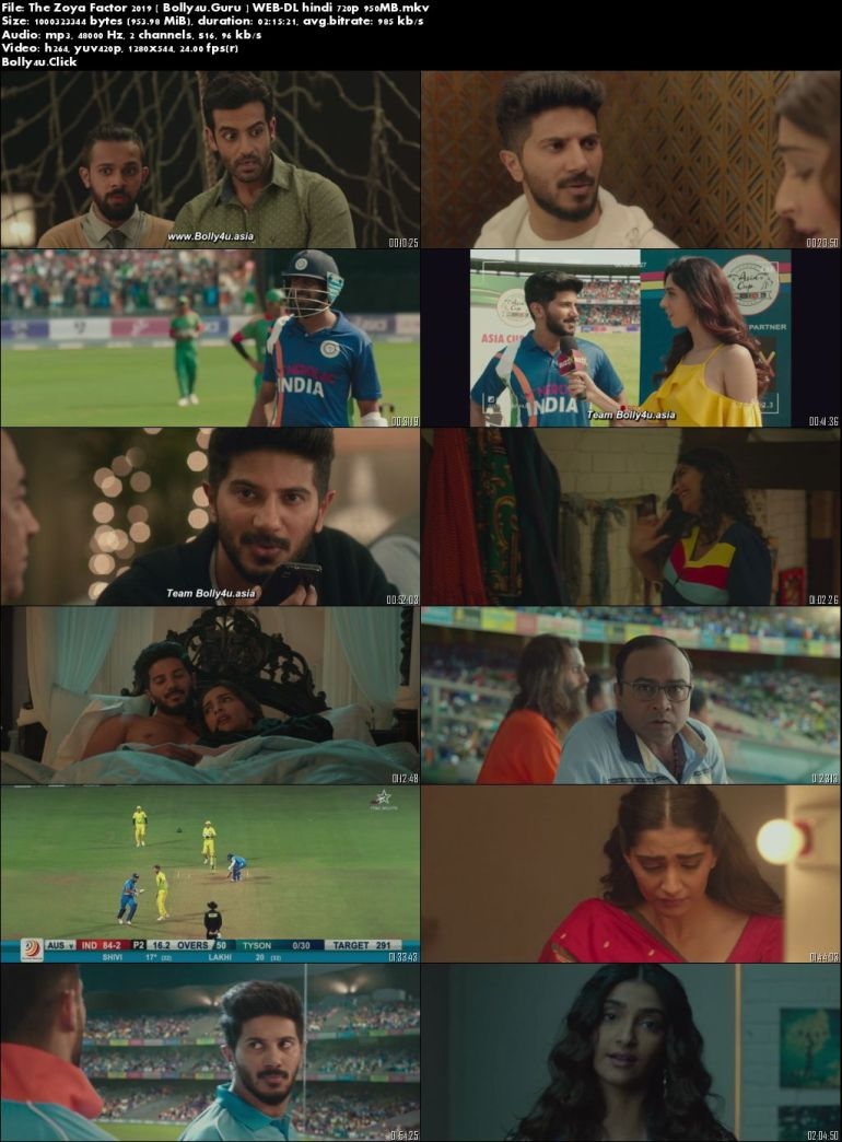 The Zoya Factor 2019 WEB-DL 400Mb Full Hindi Movie Download 480p
