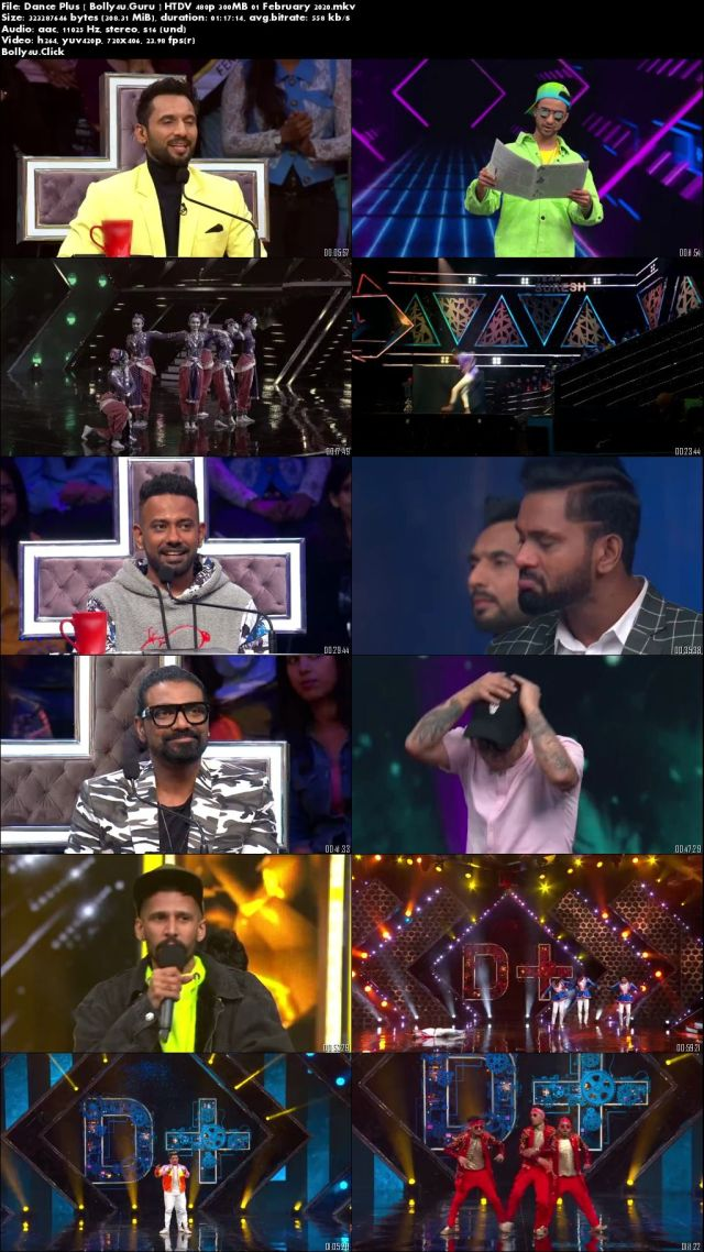 Dance Plus 5 HTDV 480p 300MB 01 February 2020 Download
