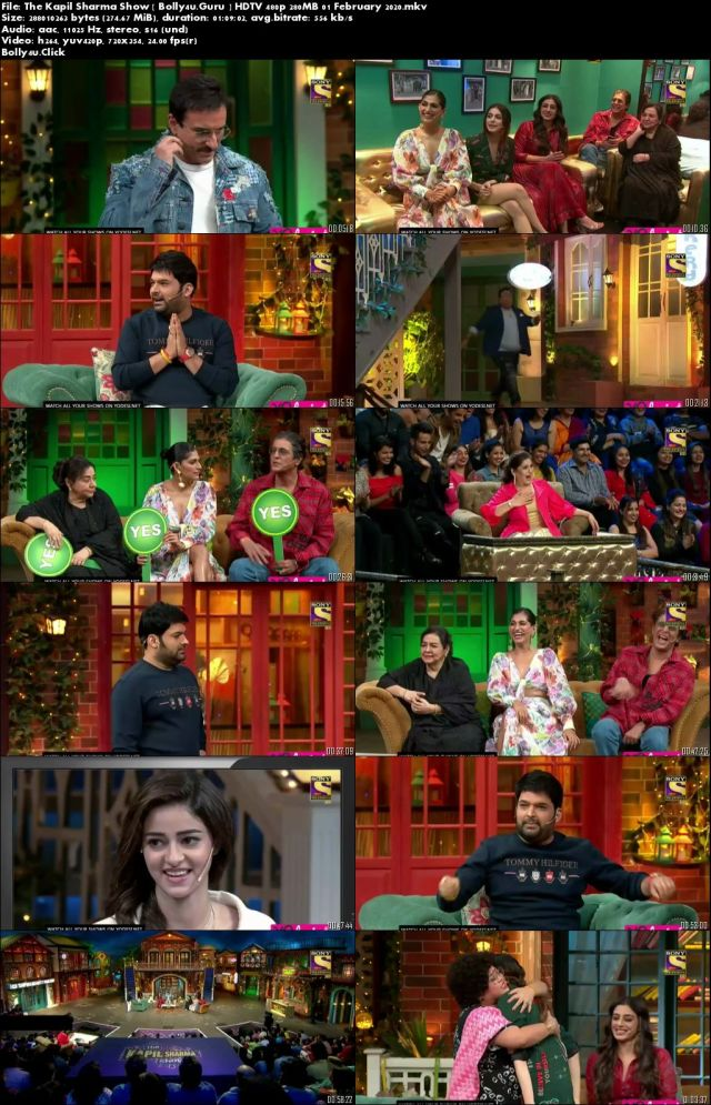 The Kapil Sharma Show HDTV 480p 250MB 01 February 2020 Download