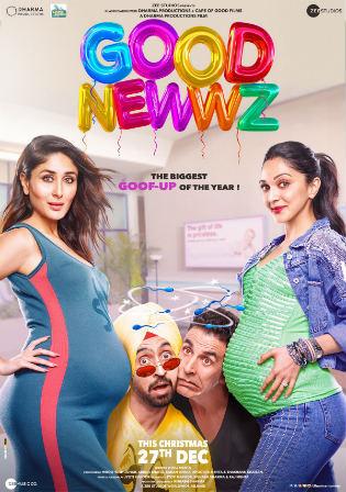 Good Newwz 2019 WEB-DL 400Mb Full Hindi Movie Download 480p Watch Online Free bolly4u