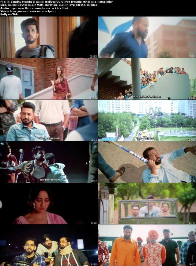 Ik Sandhu Hunda Si 2020 Pre DVDRip 300Mb Punjabi 480p Download