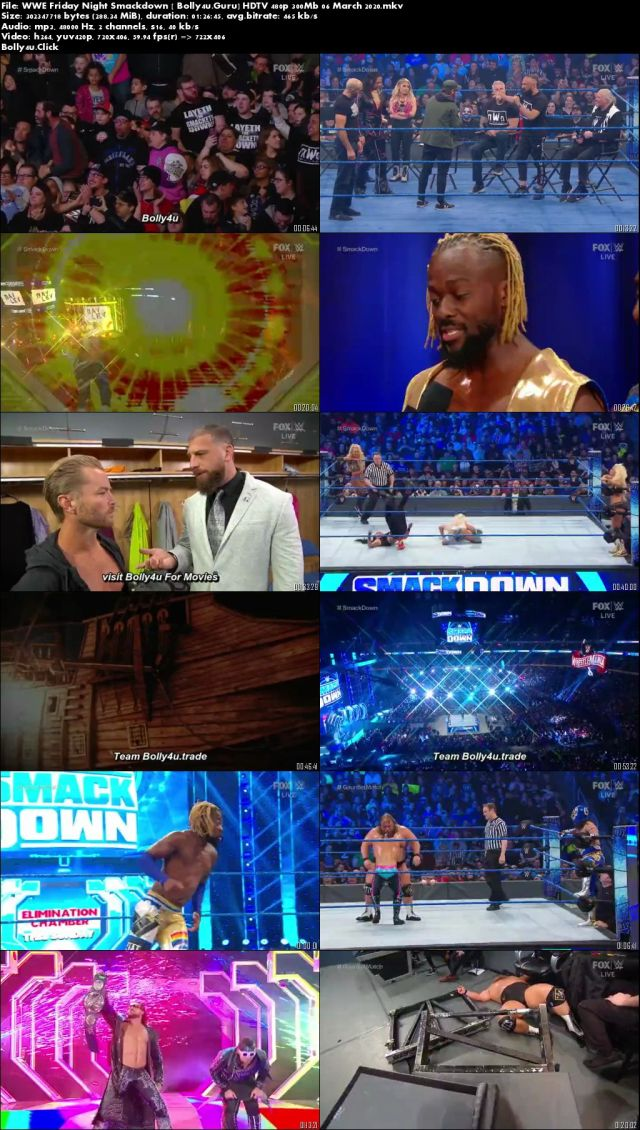WWE Friday Night Smackdown HDTV 480p 300Mb 06 March 2020 Download