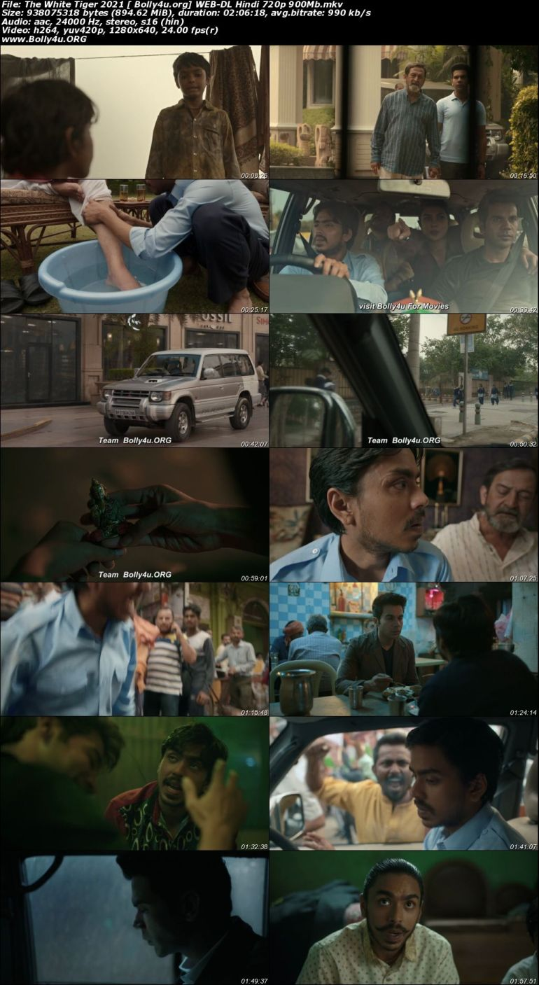 The White Tiger 2021 WEB-DL 900Mb Hindi Movie Download 720p