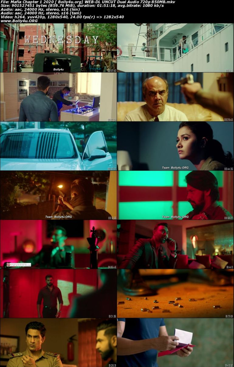 Mafia Chapter 1 2020 WEB-DL 400Mb UNCUT Hindi Dual Audio 480p download